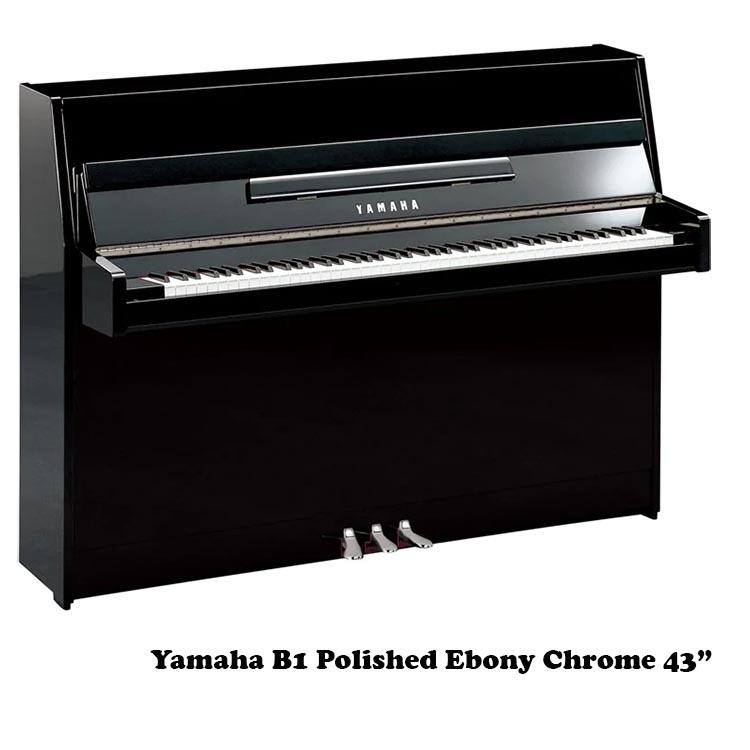 yamaha b1 polished ebony 43 inch upright piano