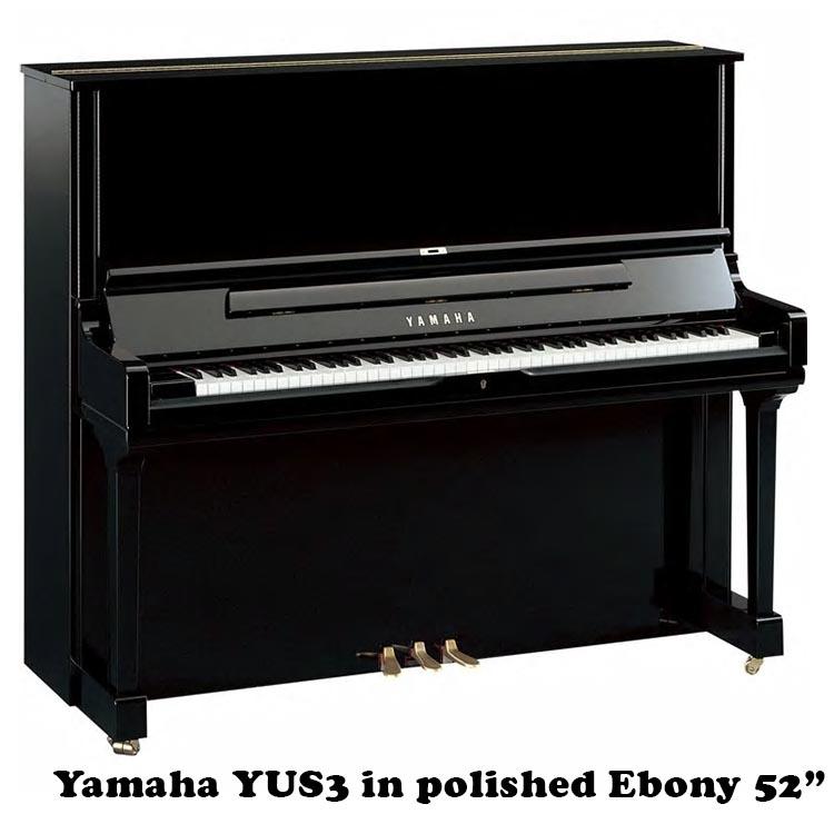 YAmaha YUS3 52inch professional upright in polished ebony