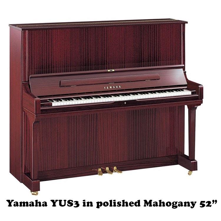 Yamaha YUS5 in polished Mahogany 52 inch upright piano