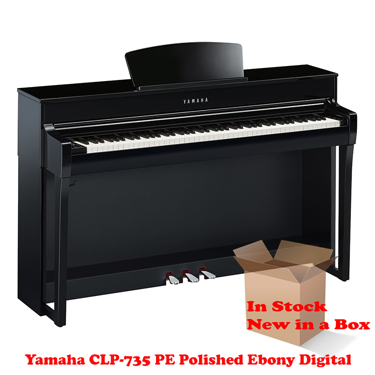 Yamaha CLP-735PE Polished Ebony Piano For Sale in NJ NEW