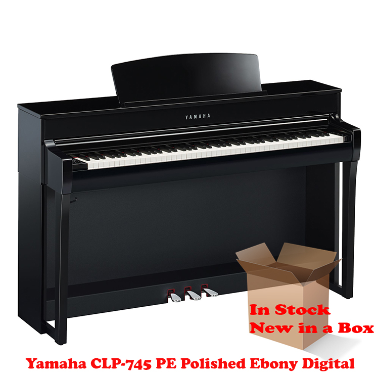 Yamaha CLP-745PE Polished Ebony Piano For Sale in NJ NEW