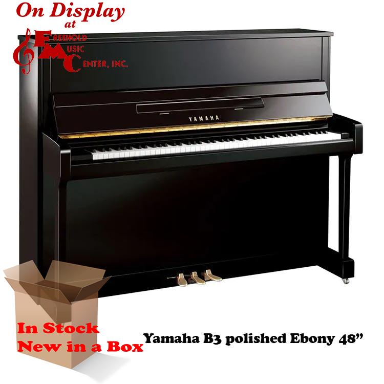 Yamaha B3 Polished Ebony New Piano for Sale