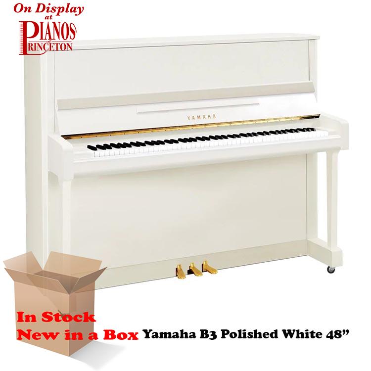 Yamaha B3 Polished White new piano